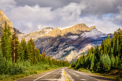 Icefields Allee in Kanada