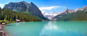 Lake Louise Bergsee in Kanada