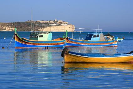 Marsaxlokk Küste in Malta